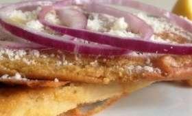 Farinata oignon parmesan