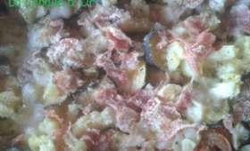 Gratin de courgettes,pommes de terre,jambon et mozzarella