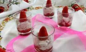 verrine fraises chèvre