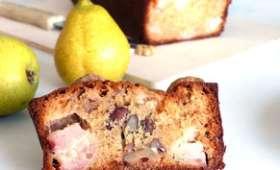 Cake d'automne miel, poires et noix