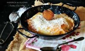 Pastilla pommes caramélisées, sirop de vanille et marrons glacés