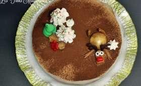 Entremet au chocolat et aux marrons
