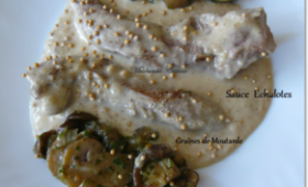 Aiguillettes de canard à la crème d'échalotes