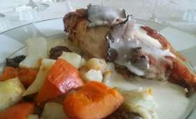 Chapon sauce suprême aux truffes