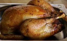 Chapon farci au foie gras : le jus de cuisson