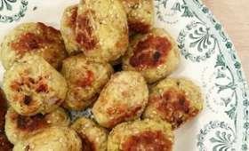 Boulettes de poulet sésame et épices
