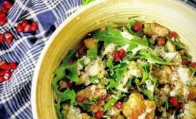Salade de chou-fleur rôti et quinoa, sumac et tahini