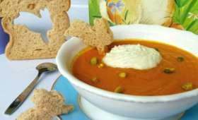 Crème de carottes et chantilly de gorgonzola