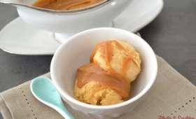 Glace au caramel beurre salé sauce au caramel