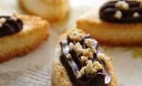 Barquettes noix de coco, chocolat aux éclats d'amandine
