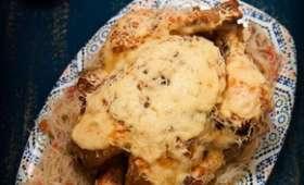 Poulet rôti à la harissa et au fromage