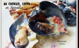 Moules au chorizo, coppa et poireaux