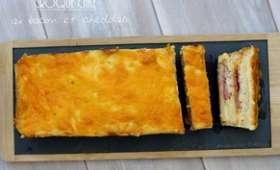 Croque cake au bacon et cheddar