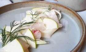 Tartare de lieu jaune à l'huile de cardamome