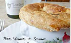 Petites marmites de saumon et saint-jacques aux poireaux