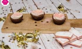 Cupcakes au chocolat et biscuits roses de Reims