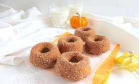 Donuts potiron et cannelle, vegan, cuits au four