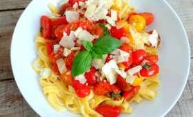 Tagliatelles aux petites tomates