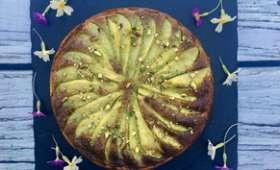 Tarte grourmande aux poires et pistaches