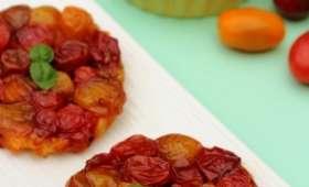 Tarte tatin de tomates cerises au pesto
