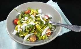 Salade de pâtes au pesto maison ou pas