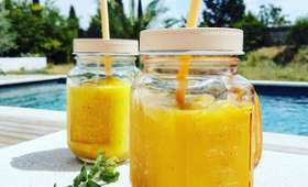 Smoothie mangue menthe lait de coco
