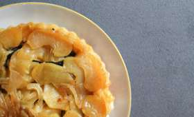 Tarte tatin au boudin noir et aux pommes