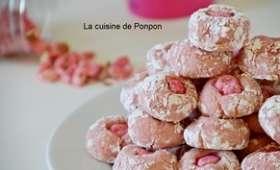 Amaretti à l'arôme framboise et praline rose
