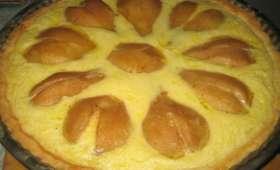 Tarte sablée bourdaloue poire et crème d'amande
