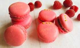Macarons framboise et framboise-thé matcha