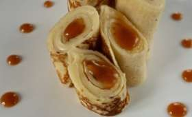 Crêpes tomme de Savoie et caramel salé