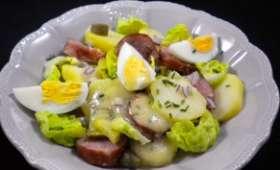 Salade-repas à la saucisse de Montbéliard