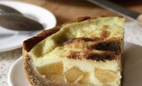 Flan pâtissier aux pommes caramélisées