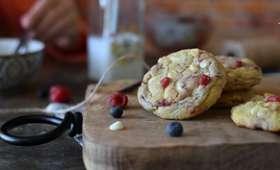 Cookies framboise et chocolat blanc