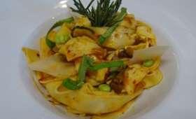 Tagliatelles à la 'nduja calabraise ou pasta con la 'nduja