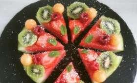 Tarte pastèque kiwi melon fraise