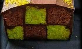 Damier chocolat et pistache