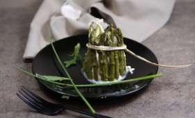 Charlottes d'asperges vertes au fromage frais