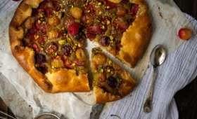 Tarte rustique aux fruits rouges & pistache
