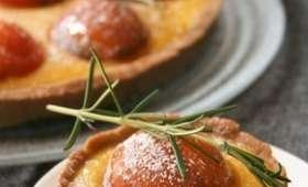 Tarte au curd de melon / romarin, abricots