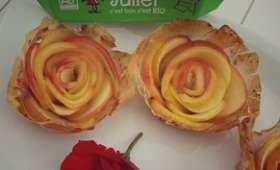 Roses de pomme en feuille de brick