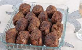 Boules d'aubergines frites