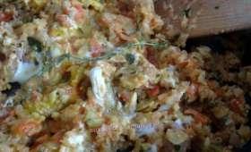 Compotée de courgettes et tomates à l'œuf (ou pas)
