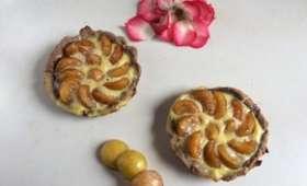Tartelettes sablées cacao aux mirabelles du jardin