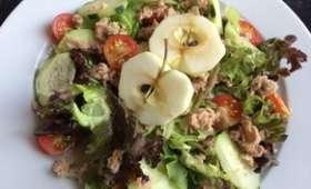 Salade fraîcheur au thon et à la pomme - NathyChef