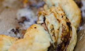 Couronne tressée au Roquefort et aux amandes effilées
