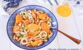 Salade composée au haddock, fenouil, orange et haricots blancs