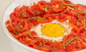 Salade de tomates aux oeufs