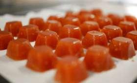 Pâtes de fruits à la tomate.