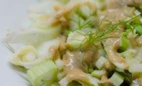 Salade de fenouil à la sauce moutardée
